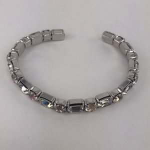 Jewelry - Clear Rhinestone Large Wrist Costume Bracelet